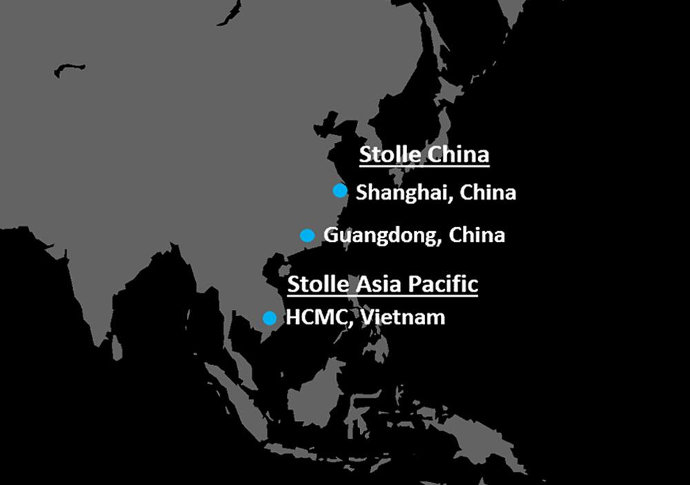 Stolle China / Asia-Pacific locations map