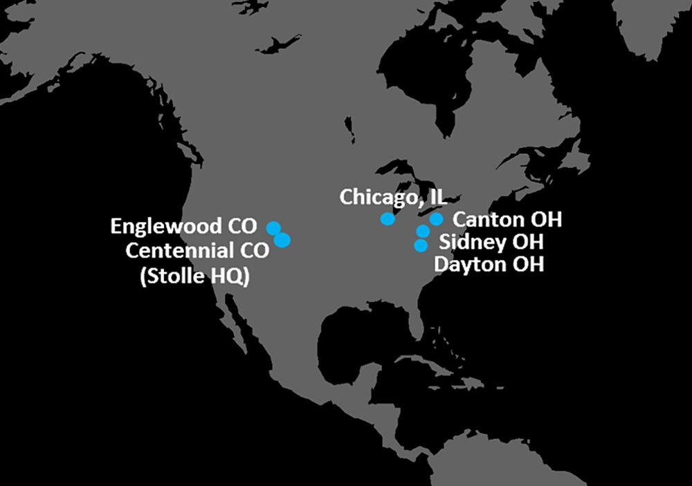 Stolle USA locations map