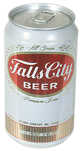 Falls City beer can with stay-on tab